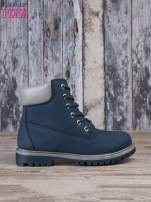Ciemnoniebieskie buty trekkingowe damskie traperki ocieplane                                                                          zdj.                                                                         1