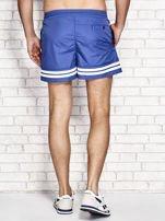 Ciemnoniebieskie męskie szorty kąpielowe w marynarskim stylu                                  zdj.                                  3