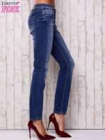 Ciemnoniebieskie spodnie regular jeans                                  zdj.                                  2