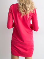 Ciemnoróżowa dresowa tunika basic                                  zdj.                                  3