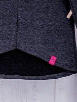 Ciemnoszara bluza dziewczęca V-neck ze ściągaczami                                  zdj.                                  8