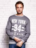Ciemnoszara bluza męska z napisem NEW YORK                                  zdj.                                  1
