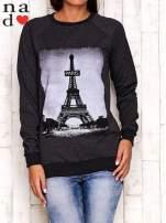 Ciemnoszara bluza z motywem Wieży Eiffla