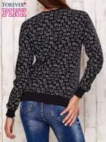 Ciemnoszara bluza z nadrukiem kotów                                  zdj.                                  2