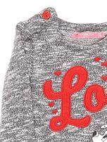 Ciemnoszara bluzka dla dziewczynki z bajkowym nadrukiem                                  zdj.                                  3