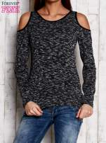 Ciemnoszara melanżowa bluzka cut out shoulder                                   zdj.                                  1