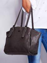 Ciemnoszara miękka torba w miejskim stylu                                  zdj.                                  5