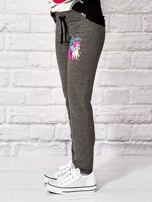 Ciemnoszare spodnie dresowe dla dziewczynki LITTLE UNICORN                                  zdj.                                  3