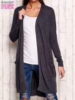 Ciemnoszary długi sweter oversize
