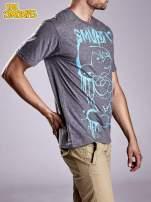 Ciemnoszary t-shirt męski SMERFY