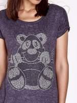 Ciemnoszary t-shirt z nadrukiem zwierzątka                                  zdj.                                  5