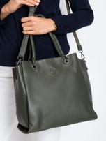 Ciemnozielona damska torba z ekoskóry                                  zdj.                                  1