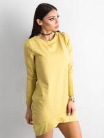 Ciemnożółta dresowa tunika basic                                  zdj.                                  2