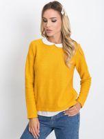 Ciemnożółty sweter Prestige                                  zdj.                                  1
