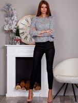Cienki nietoperzowy sweter szary                                  zdj.                                  4
