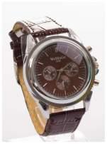 Cudny zegarek damski na brązowym pasku                                  zdj.                                  3