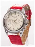 Cudny zegarek damski na czerwonym pasku                                  zdj.                                  2