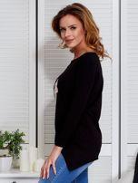 Czarna asymetryczna bluzka z babeczką                                  zdj.                                  5
