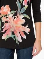 Czarna bawełniana bluzka z motywem kwiatowym                                  zdj.                                  7