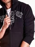 Czarna bluza męska z kapturem i napisem ZOO YORK