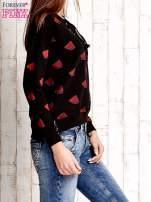 Czarna bluza w arbuzy z wiązaniem