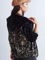 Czarna bluza we wzory                                  zdj.                                  5