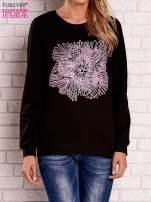 Czarna bluza z kolorowym nadrukiem