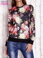 Czarna bluza z kwiatowym motywem                                                                          zdj.                                                                         1