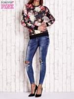 Czarna bluza z kwiatowym motywem                                  zdj.                                  2