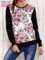 Czarna bluza z kwiatowym nadrukiem                                  zdj.                                  1