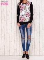 Czarna bluza z kwiatowym nadrukiem                                  zdj.                                  2