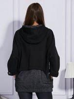 Czarna bluza z melanżowymi wstawkami                                  zdj.                                  2