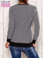 Czarna bluza z motywem kwiatowym i geometrycznym tyłem