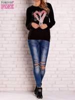 Czarna bluza z motywem paryskim                                                                          zdj.                                                                         2