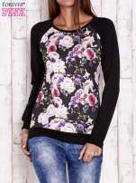 Czarna bluza z motywem róż                                  zdj.                                  1