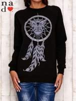 Czarna bluza z motywem sowy i łapacza snów                                  zdj.                                  2