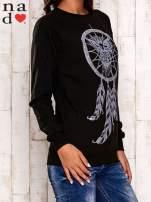Czarna bluza z motywem sowy i łapacza snów                                  zdj.                                  4