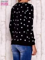 Czarna bluza z nadrukiem jabłuszka                                  zdj.                                  2