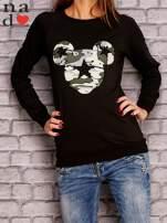 Czarna bluza z nadrukiem moro                                  zdj.                                  1