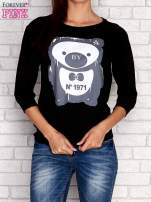 Czarna bluza z nadrukiem pandy                                  zdj.                                  1