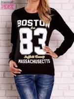Czarna bluza z napisem BOSTON 83
