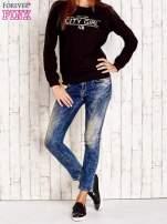 Czarna bluza z napisem CITY GIRL                                  zdj.                                  2