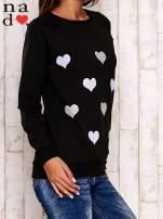 Czarna bluza z serduszkami                                                                          zdj.                                                                         3