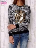 Czarna bluza ze złotym motywem                                  zdj.                                  1