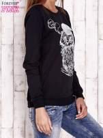 Czarna bluza ze zwierzęcym nadrukiem                                  zdj.                                  3