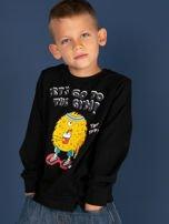 Czarna bluzka dla chłopca z bawełny                                  zdj.                                  3