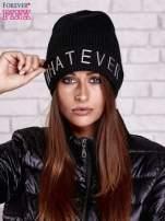 Czarna czapka beanie z napisem WHATEVER