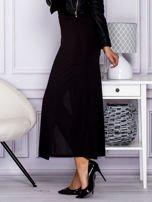 Czarna długa spódnica maxi w transparentne paski                                                                          zdj.                                                                         7