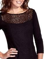 Czarna dopasowana sukienka z ażurowym wykończeniem                                                                          zdj.                                                                         5