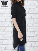 Czarna koszulotunika z kieszonkami                                  zdj.                                  3
